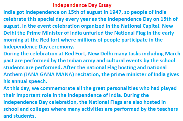 essay on independence day twenty hueandi co essay on independence day 70th independence day 15