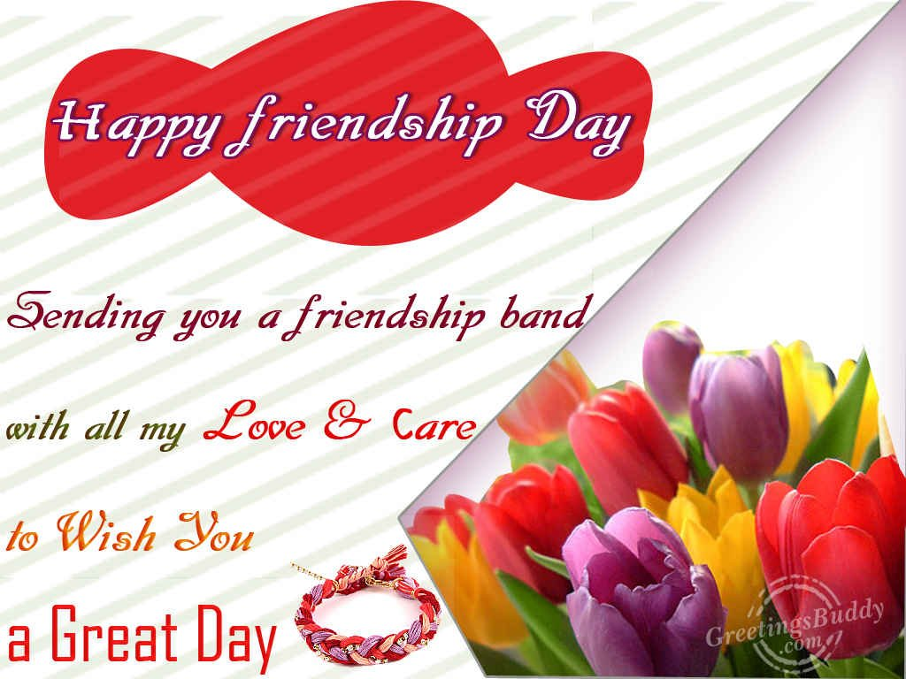 Friendship Greetings For Friendship Day with Messages