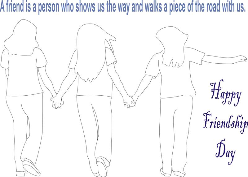 Happy Friendship Day Coloring Pages For Kids Adults Preschoolers Kindergarten Boys Girls