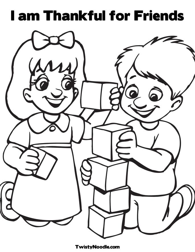 Happy Friendship Day Coloring Pages for Boys, Friendship Day Coloring Pages for Boys