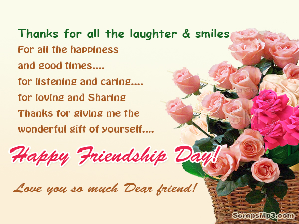 Happy Friendship Day Wishes in English
