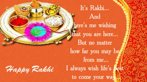 Happy Raksha Bandhan Messages fo sister