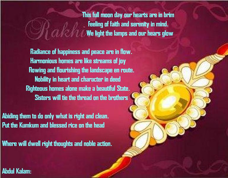 Raksha Bandhan Messages in English