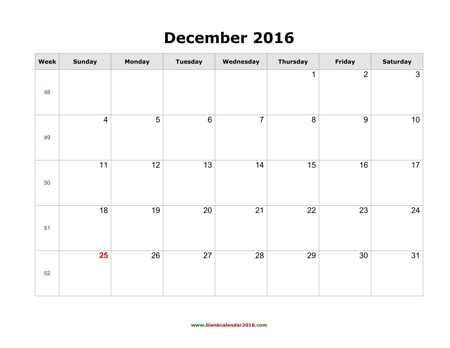 Blank October Calendar Templates 2016