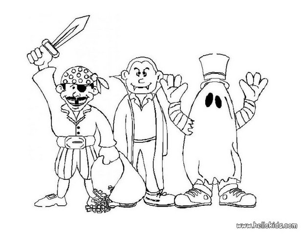 Coloring Pages of Halloween Costumes