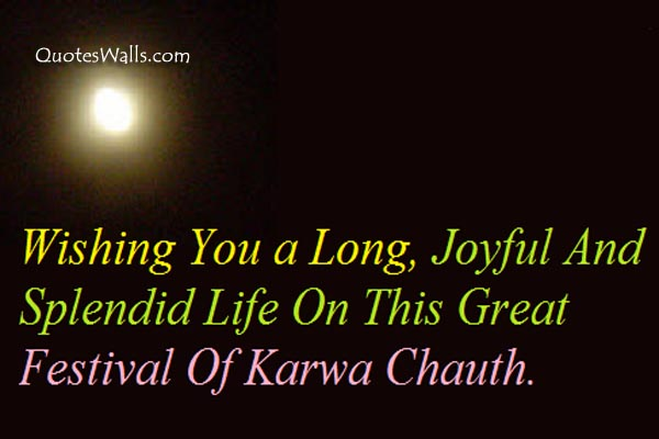 Happy Karva Chauth Wishes in English