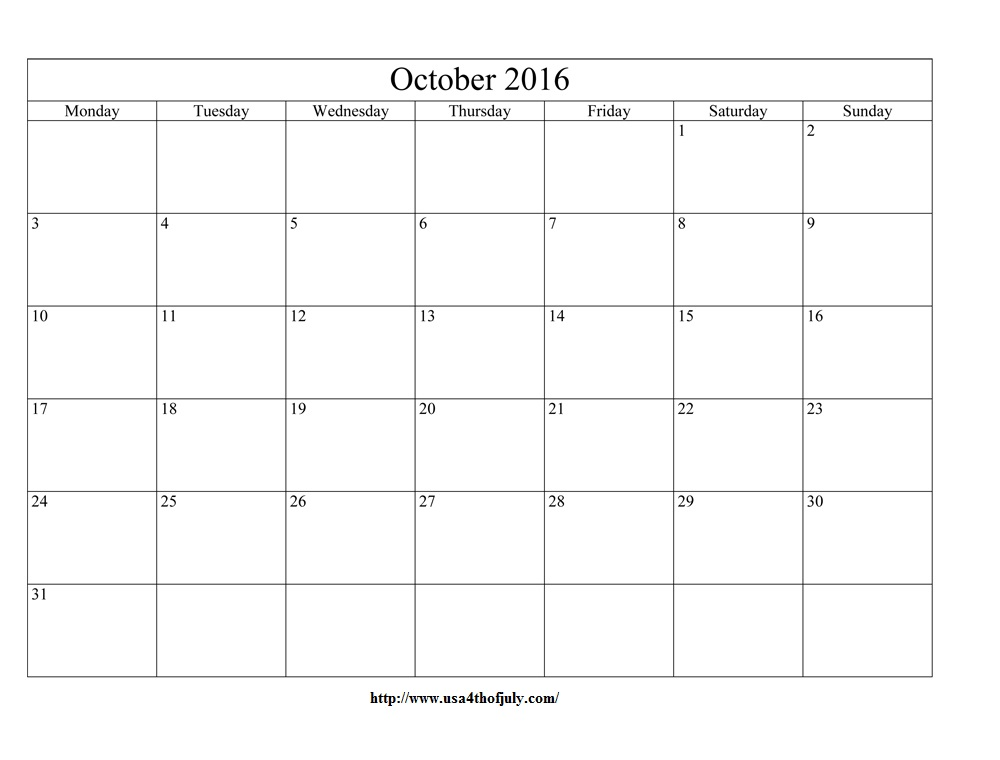 october 2016 calendar editable excel word october editable templates