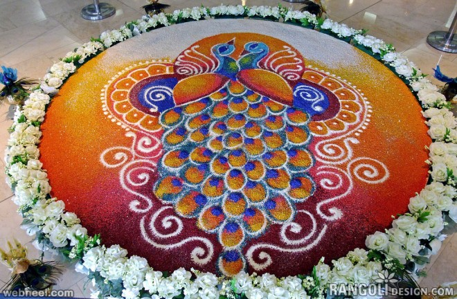 Pictures of Diwali Rangoli