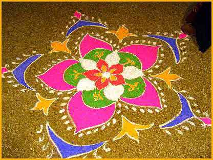 diwali images with rangoli
