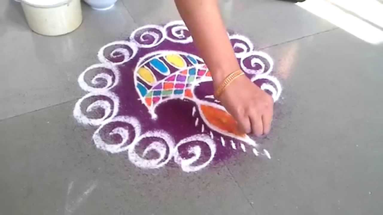 Diwali Rangoli Designs with Diya