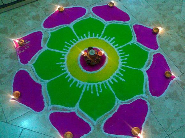Pictures of Rangoli for Diwali