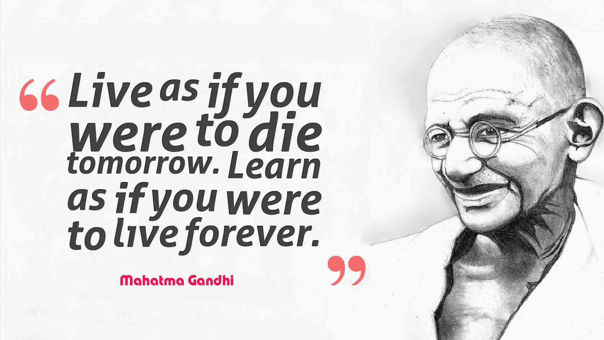 quatation on gandhi jayanti