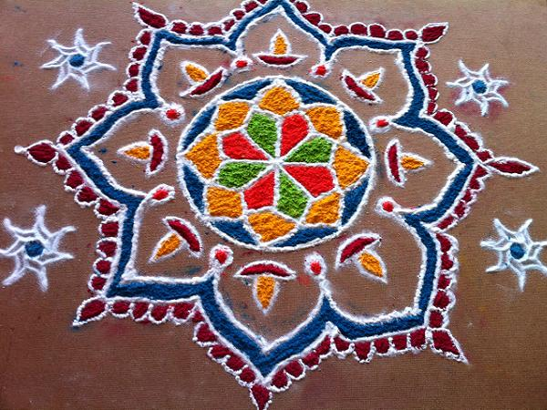 Rangoli Design for Diwali with Dots