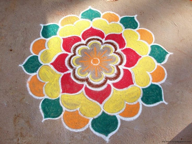 Simple Pictures of Rangoli