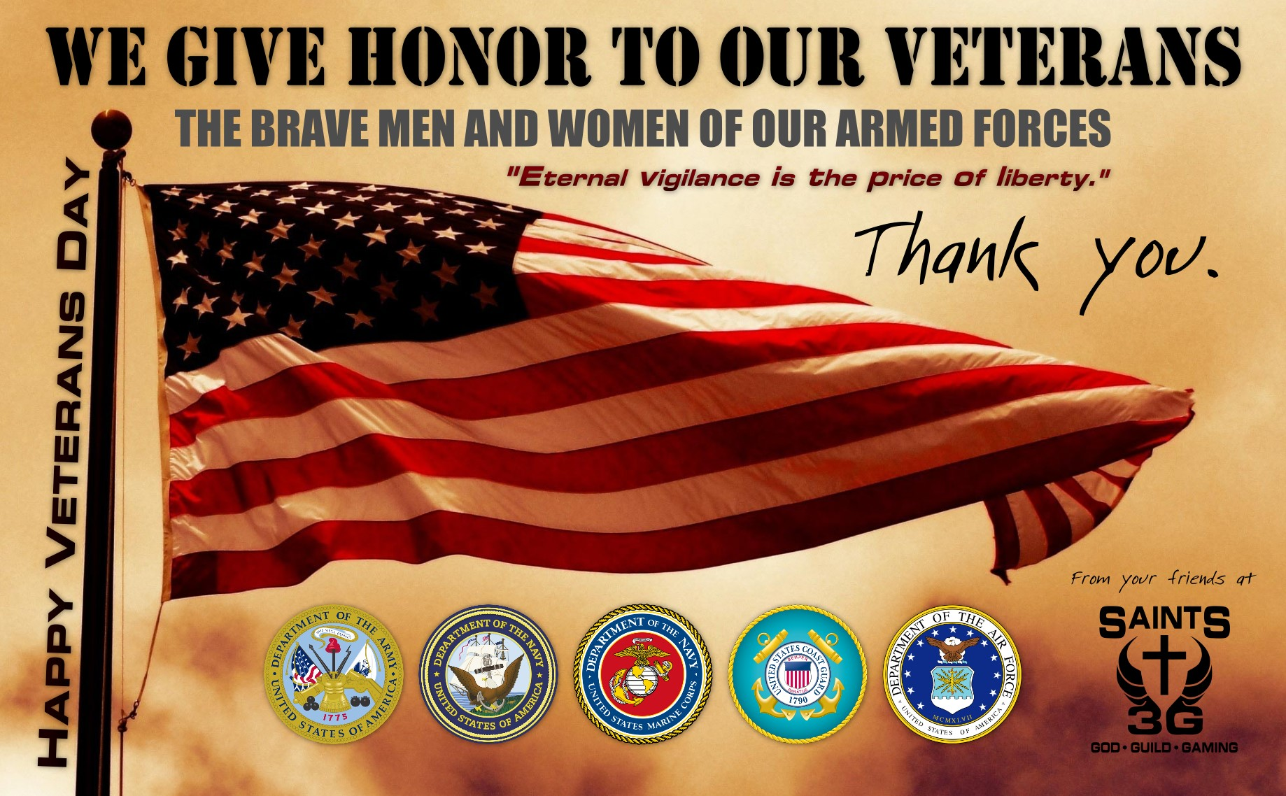 Thank You Veterans Day Sayings