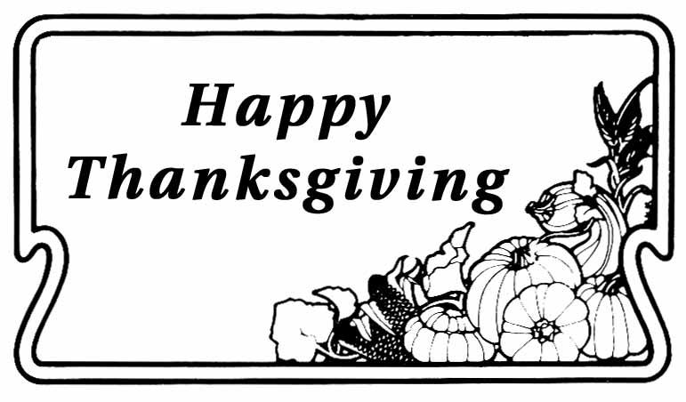 Thanksgiving Clipart 2016
