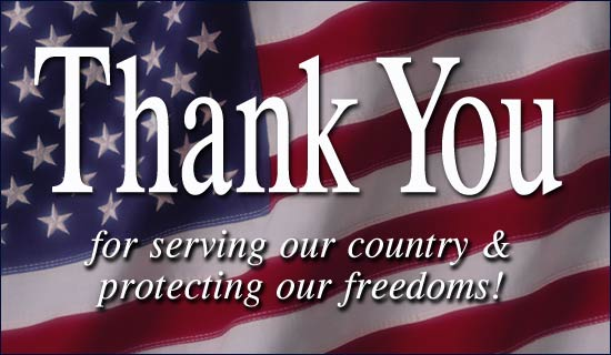 Veterans Day Thank You Pictures
