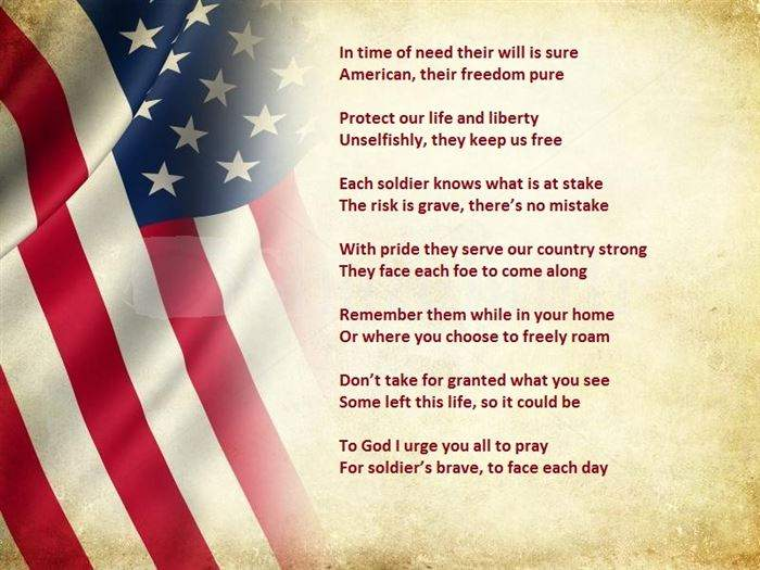 Veterans Day Thank You Poem