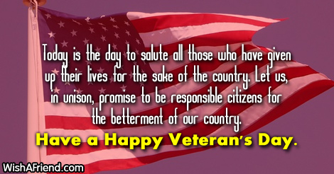 Veterans Thank you Messages
