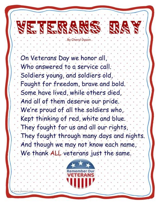Famous veterans day poems