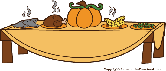 Thanksgiving Dinner Clipart