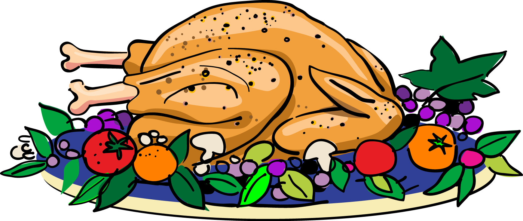 thanksgiving turkey dinner clipart