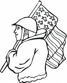 veterans day black and white clip art