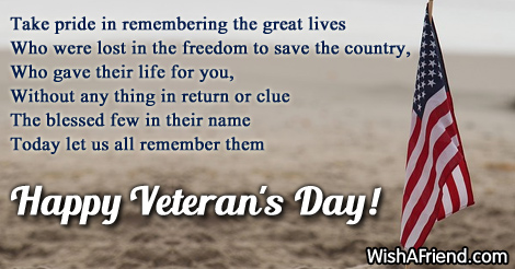 veterans day speeches