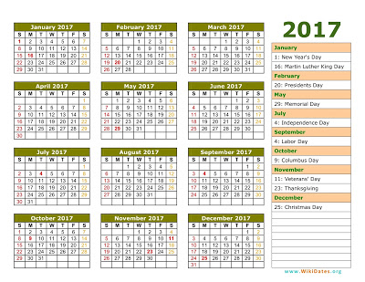 Jewish 2017 Holidays calendars Printable