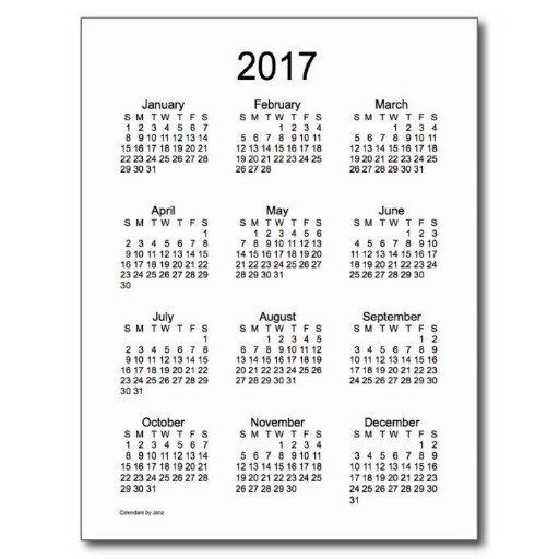 january 2017 calendar with holidays nz