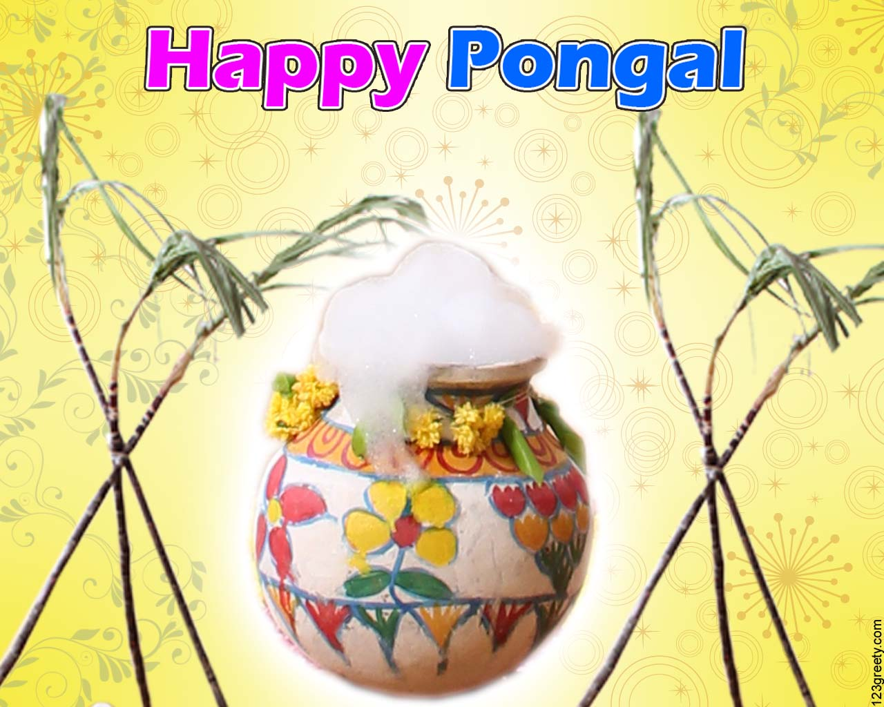 natural happy pongal images