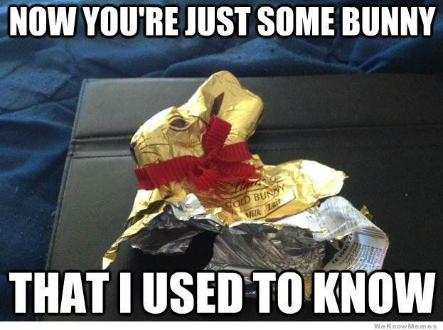 easter chocolate meme