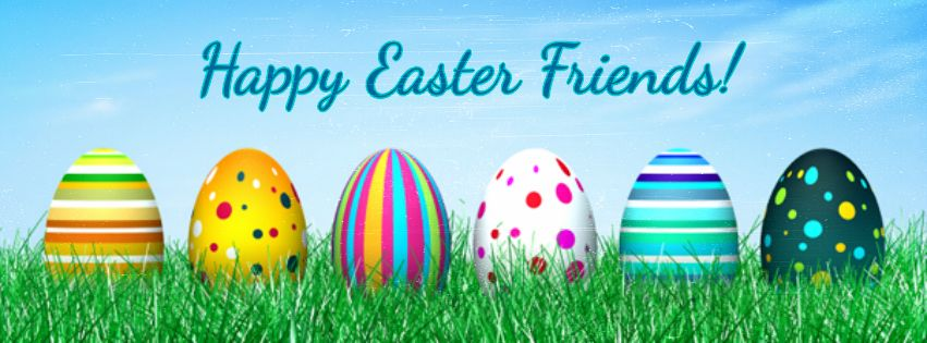 happy easter facebook banner