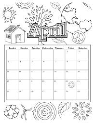 april 2017 calendar coloring page