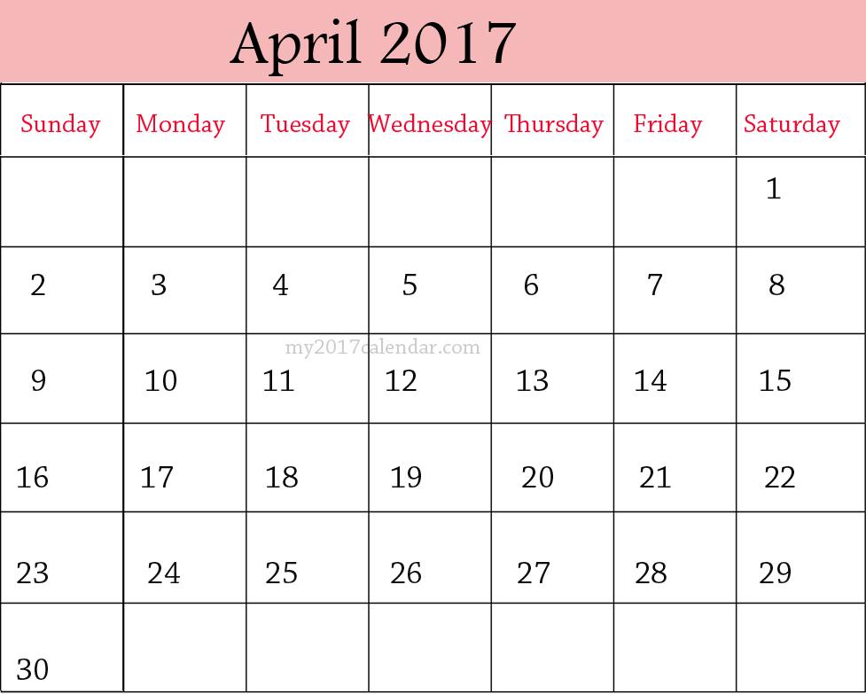 april 2017 calendar pdf wincalendar