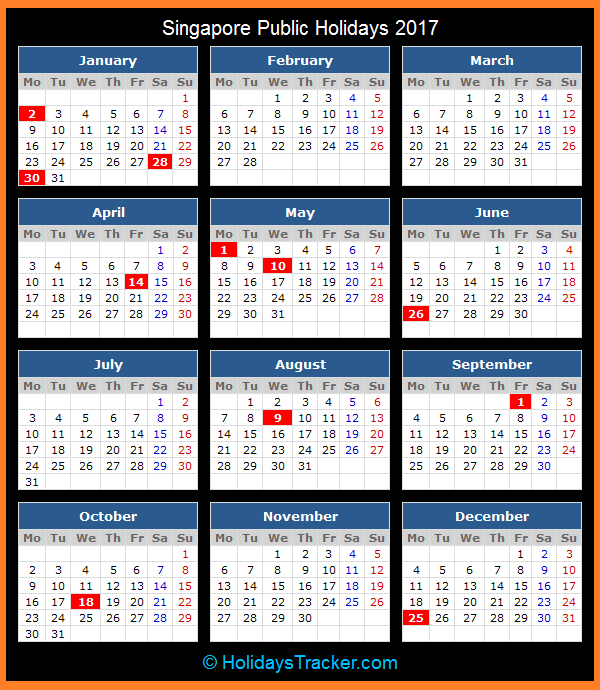 april 2017 calendar singapore
