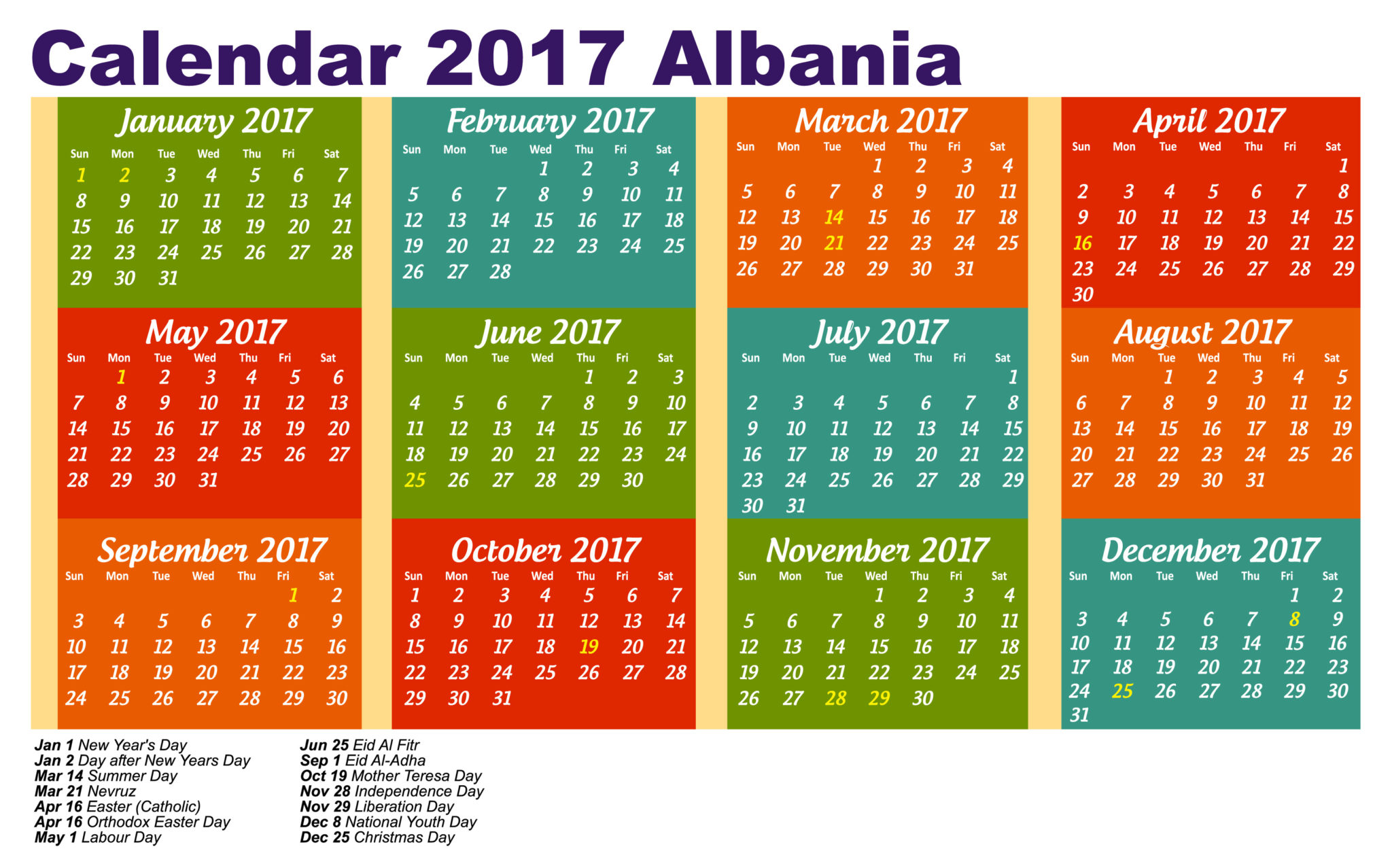 calendar april 2017 with holidays malaysia
