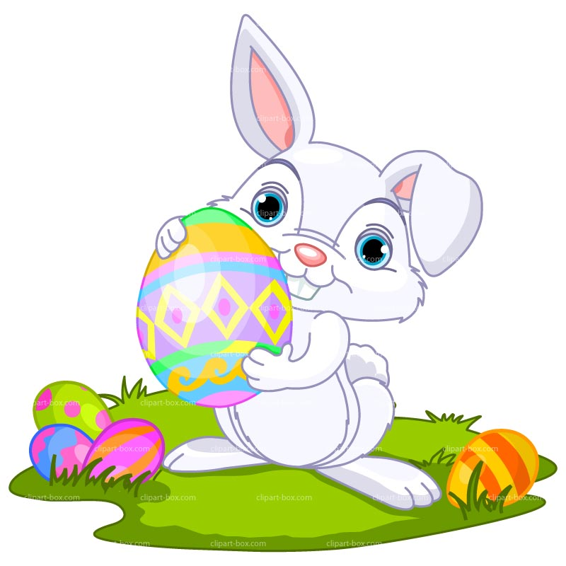 creepy easter bunny clipart