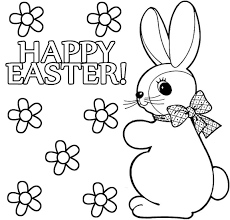 girl easter bunny coloring pages