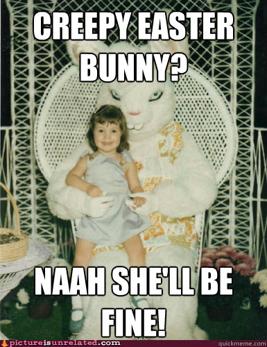 scary easter bunny meme