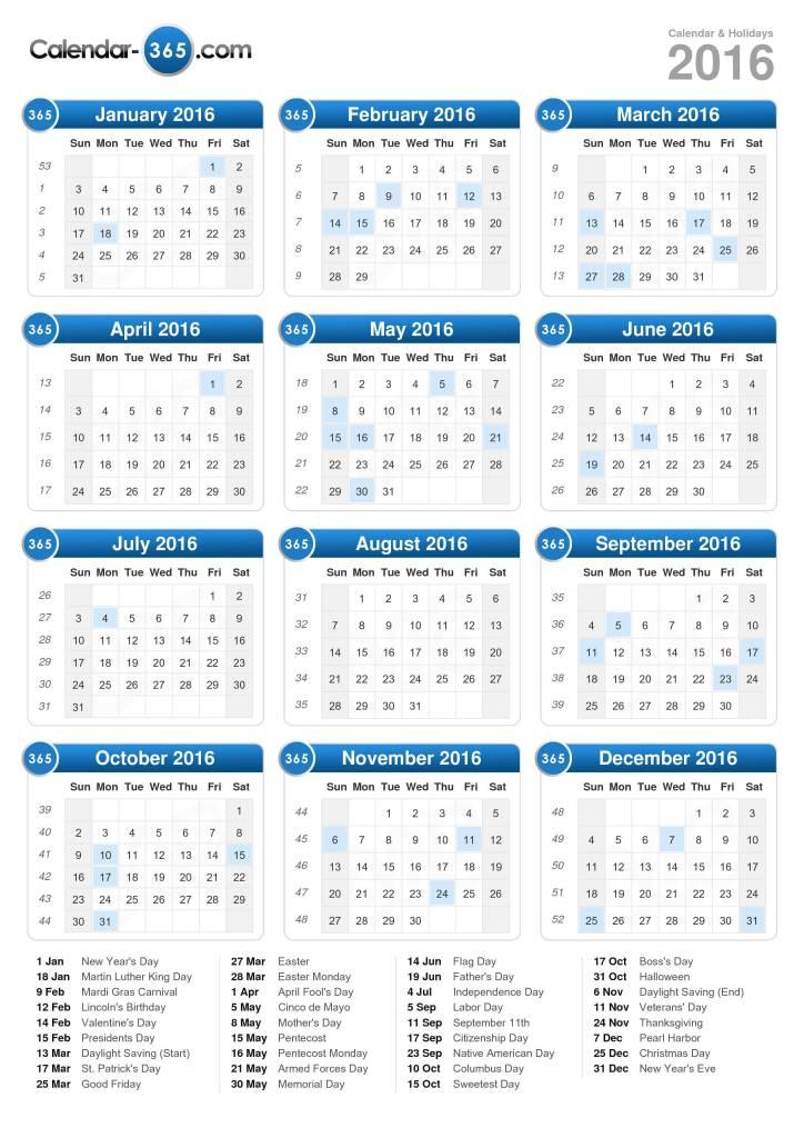 2017 calendar portrait format