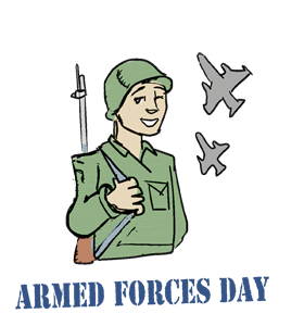 Armed Forces Day Soldier Clipart Image