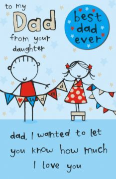 Fathers day greeting cards from daughter
