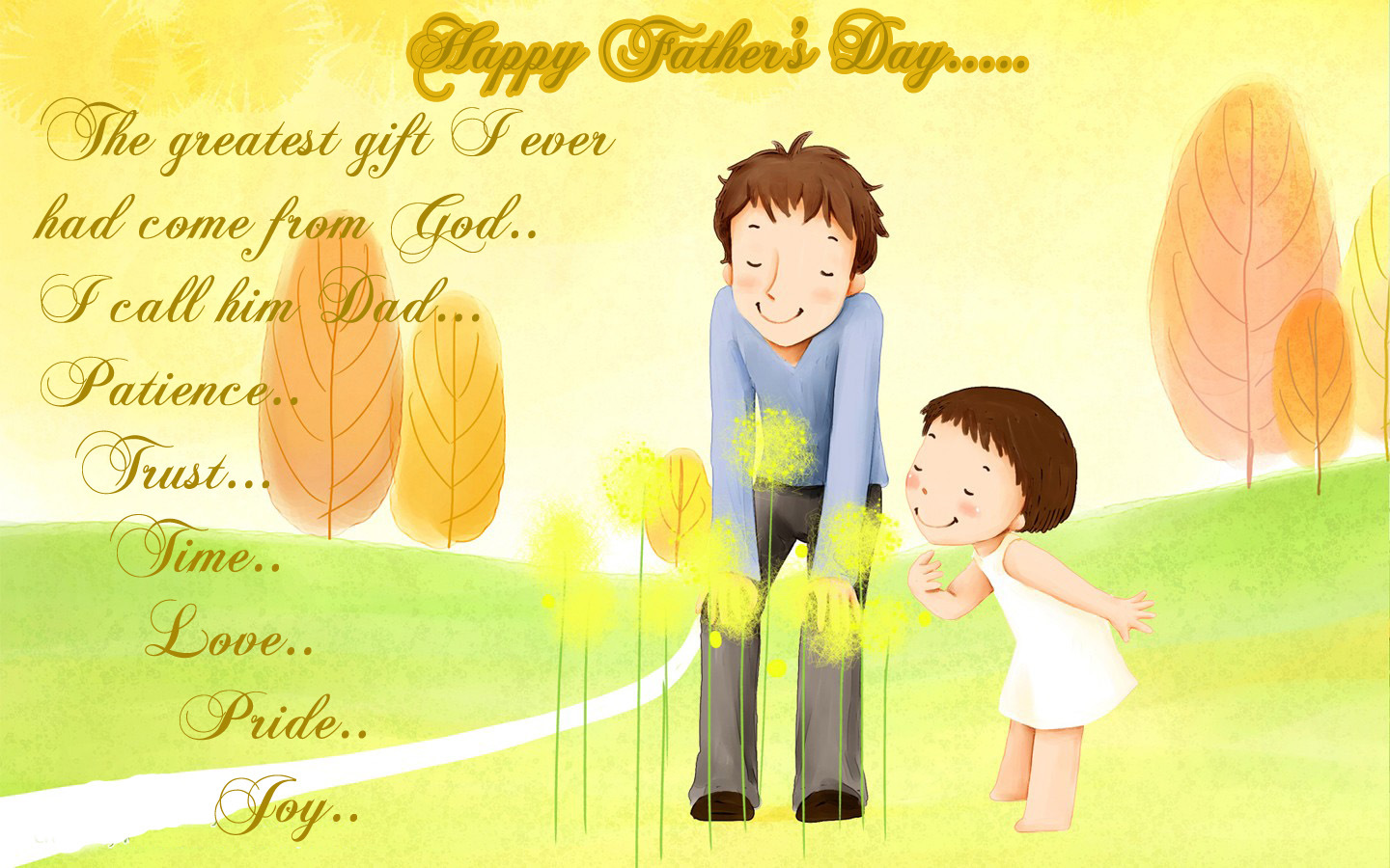 Happy Fathers Day Greetings From daughter