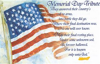 Memorial Day 2017 Poems