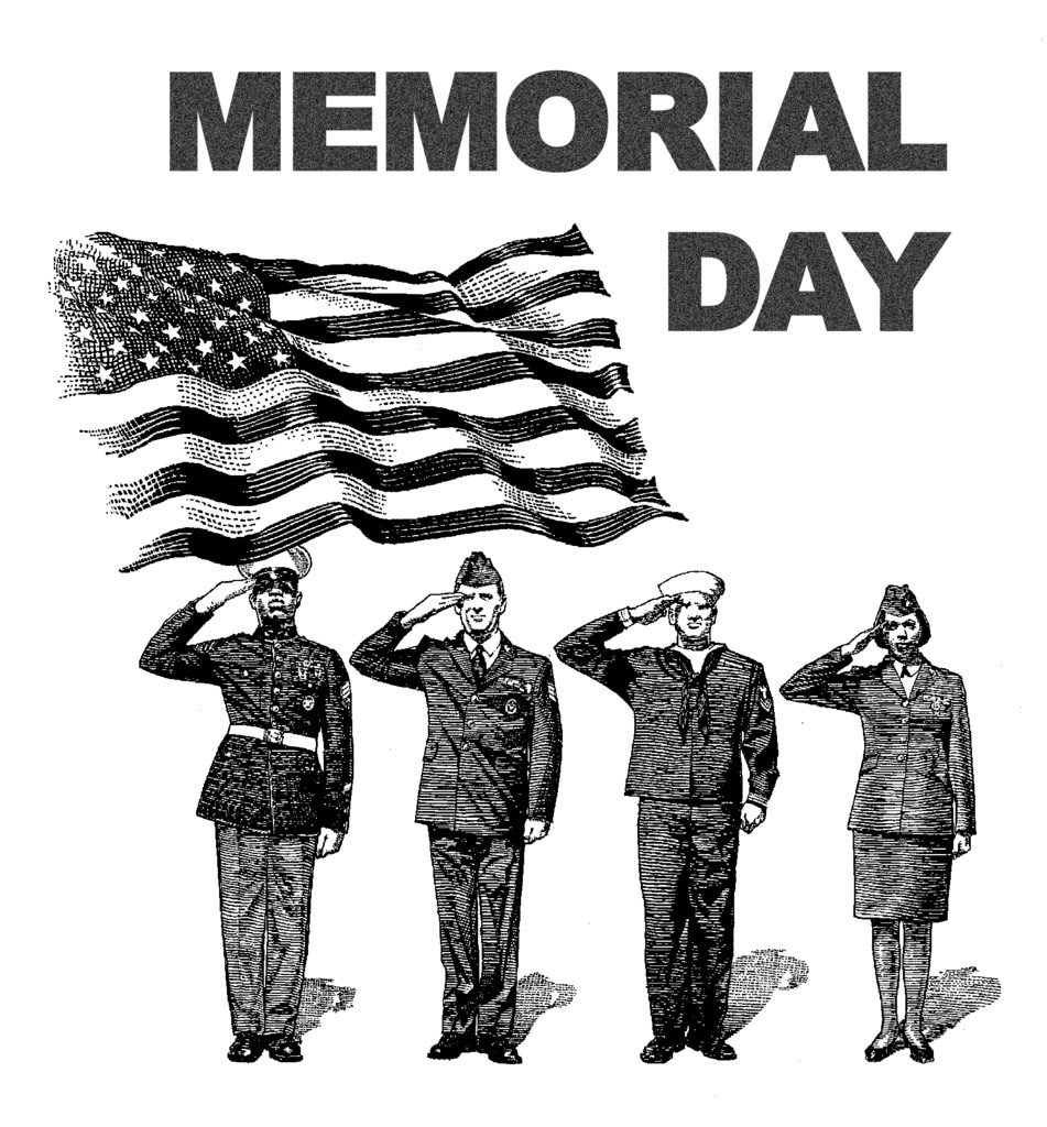 Memorial Day Clip Art Black And White