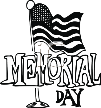 Memorial Day Free Clip Art Black & White