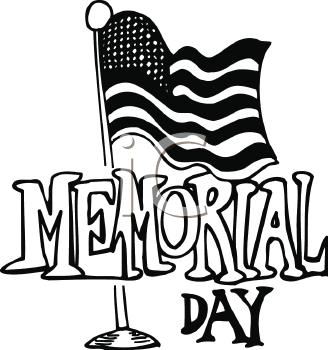 Memorial Day Free Clip Art Black & White