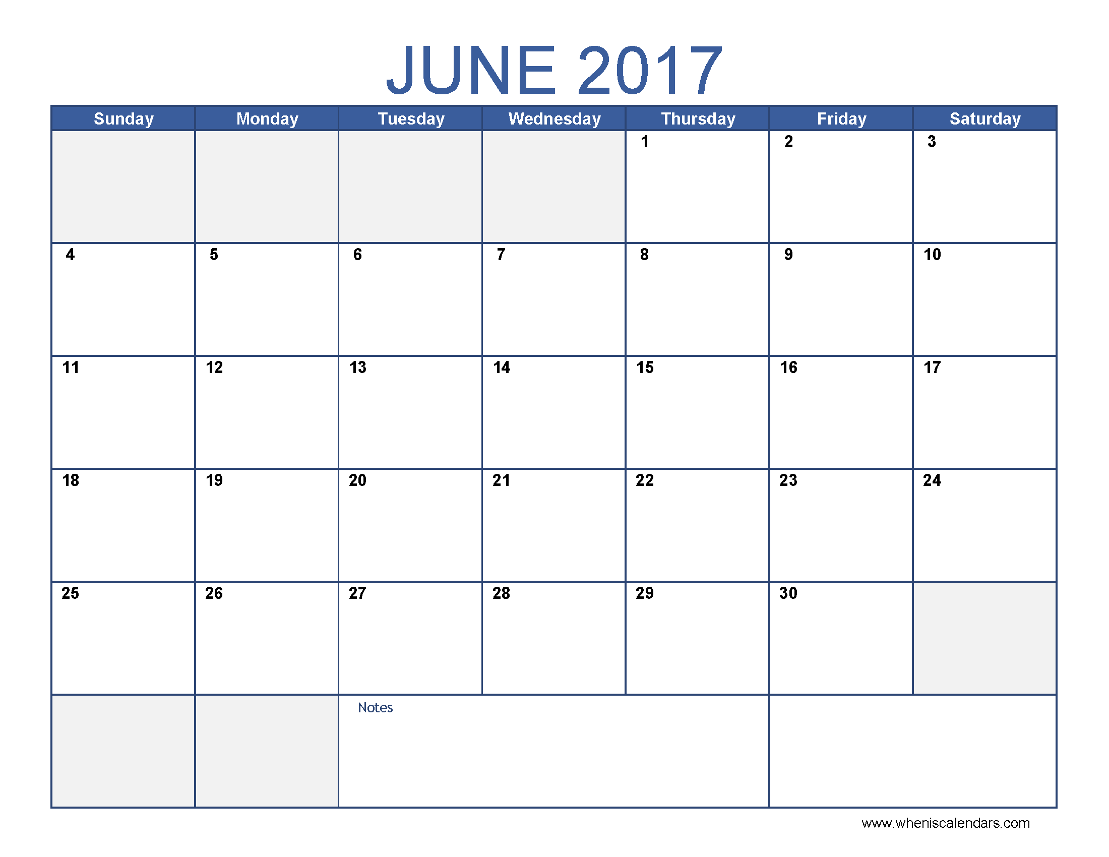 june 2017 calendar excel template