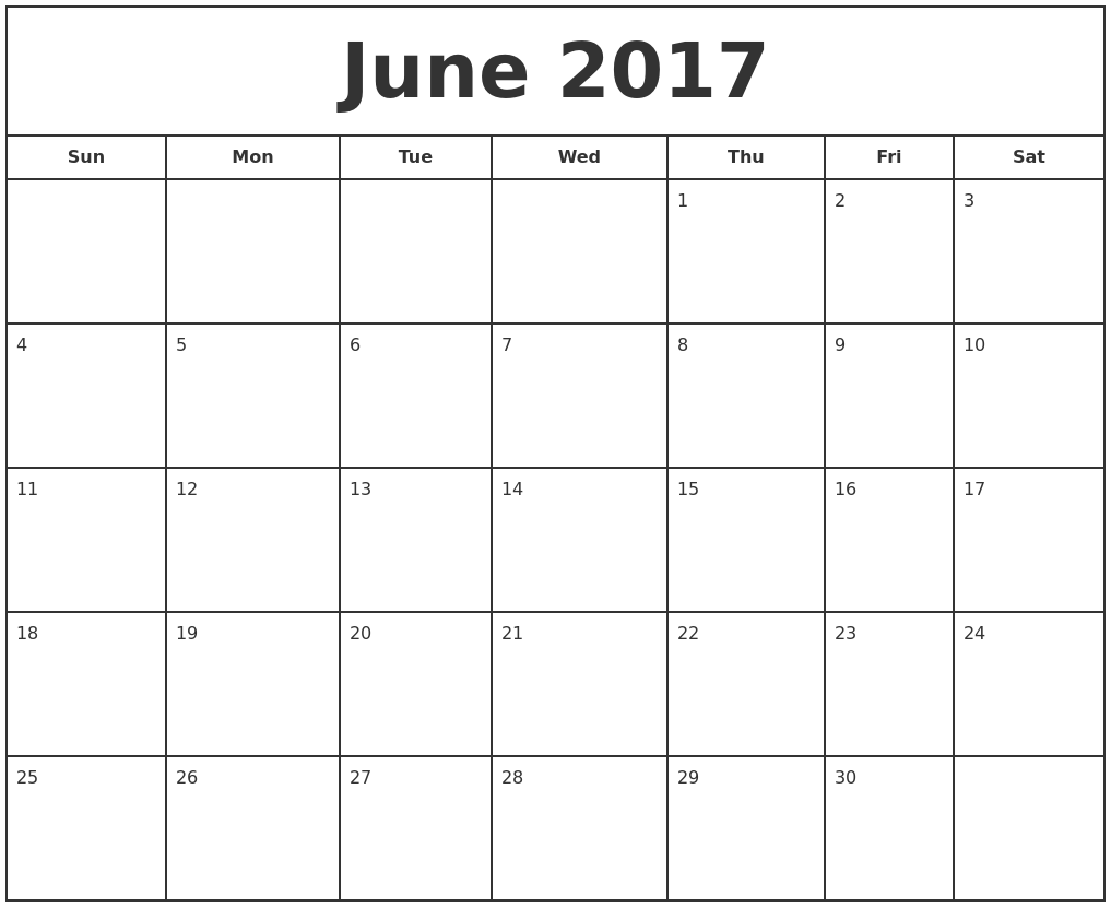 june calendar word document